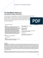 The eNanoMapper database for nanomaterial safety information