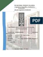 Ecología Del Individuo - Factores Abiótisco