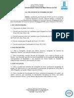 EDITAL (Comiss o Eleitoral Do Curso de Pedagogia-CCHS) n 1, De 09-11-2015.