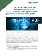Kaspersky Lab Fraude Financiero SP