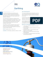 EA PSC Substation Earthing Course Leaflet PSC006CL MAR15