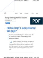 How Do I Copy aHow do I copy a copy protected web page Copy Protected Web Page