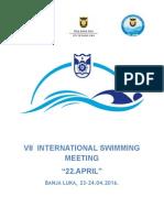 Vii Swimming Meeting Bl 2016