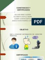 Constancias y Certificados