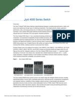 Datasheet Cisco 4500 Series