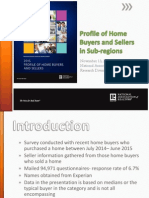 2015 Profile of Home Buyers and Sellers in Subregions
