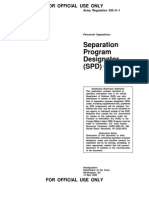 Department of Defense Seperation Program Designation Codes