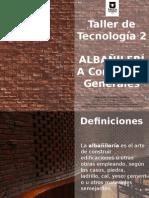 ALBAÑILERIA CONCEPTOS GENERALES