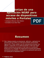 Prototipo de una aplicación WSRF para acceso de dispositivos móviles a Portales Grid.ppt