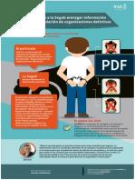 Infografía recurso vs.  @SEGOB_mx sobre información acerca desarticulación de organizaciones delictivas
