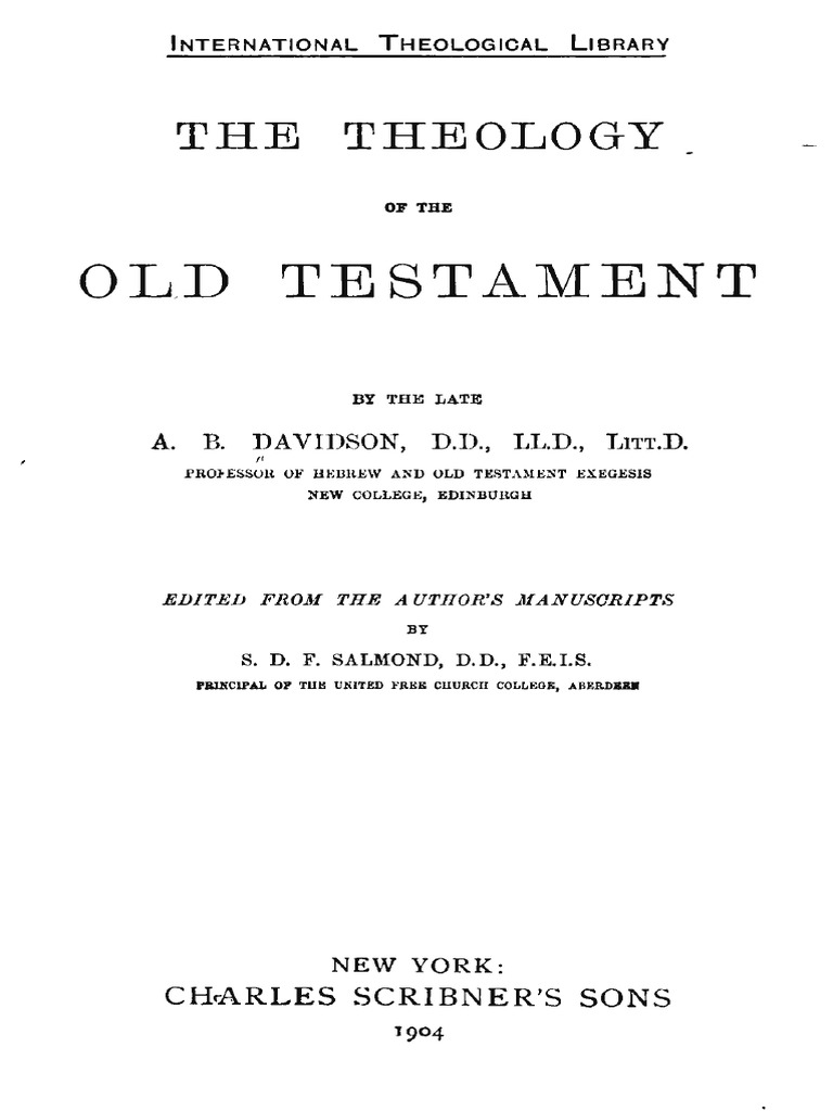A.B. Davidson [1831-1902], The Theology of the Old Testament.pdf ...