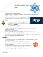 creating a seasonal greeting card rubric