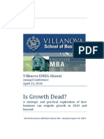 Is Growth Dead - April 23 2010 - Villanova EMBA Alumni Conference -FINAL-V3