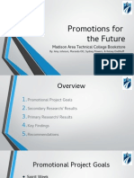 promotions for the future