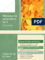 Métodos No Paramétricos II
