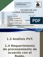 CALIDAD DE LOS FLUIDOS PRODUCIDOS