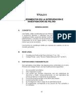 Procedimientos en Intervención e Investigación de Faltas