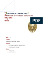Informe de Presion de Vapor Saturado