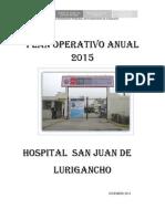 Plan OperaTivo Anual 2015 HSJL