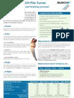BUSCH Pile Turner Information English