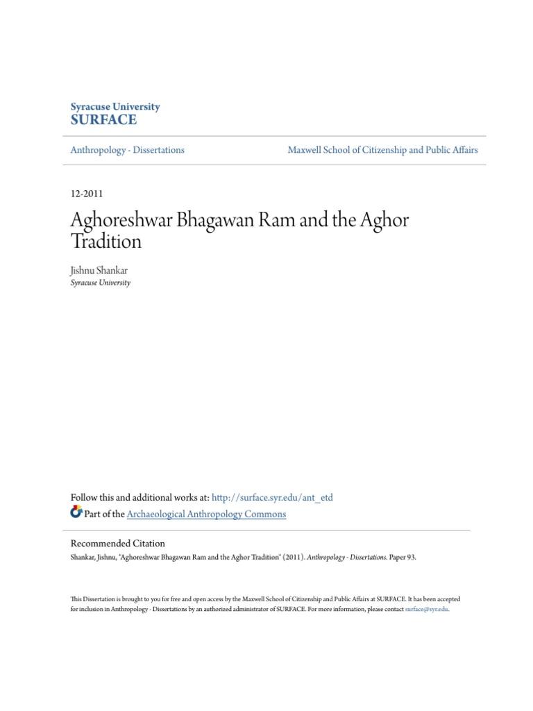 Aghoreshwar Bhagawan Ram and the Aghor Tradition | Ethnography