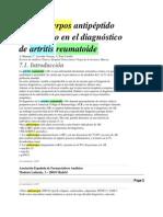 Anticuerpos Antipeptido Citrulinado en El Diagnostico de Artritis Reumatoide (1)