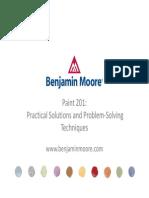 Benjamin Moore Paint 201 Course
