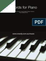 Piano chord sheet