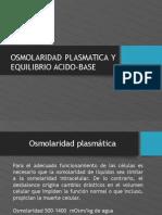 Osmolaridad y Equilibrio Acido-base