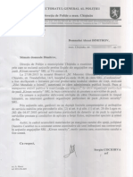 Raspuns Directia de politie Cociorva