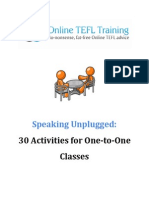 Speaking Unplugged 30Activities