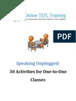 Speaking Unplugged 30Activities