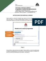 Instrucciones Para Sesiones Webinar