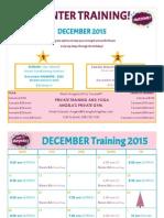 Angela's Gym December Schedule 2015