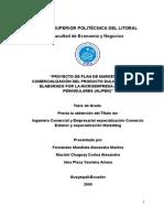 PROYECTO DE PLAN DE MARKETING Y COMERCIALIZACIÓN DEL PRODUCTO DULCE DE ZAPALLO, ELABORADO POR LA MICROEMPRESA ALIMENTOS PENINSULARES (ALIPEN)