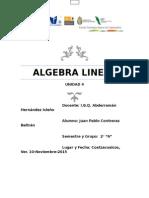 Unidad 4 Algebra Lineal