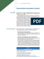 Farmacocinética del propofol en infusión