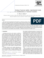 Microwave Vacuum Drying of Porous Media Experimental Study and Qualitative Considerations of Internal Transfers 2002 Chemical Engineering and Processi