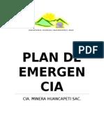 Plan de Emergencia CIA Minera Huancapeti Sac