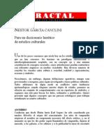 GARCÍA CANCLINI - Diccionario Herético de Estudios Culturales