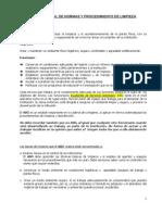 Manual de Normas y Procedimientos de Limpieza