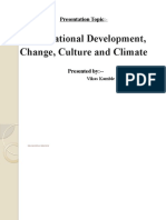 Organizational Development, Change, Culture & Climate