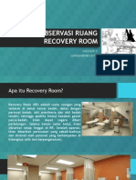 Observasi Ruang Recovery Room
