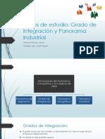Grado Intergracion y Panorama Industrial