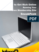 Sneakpeek How to Get Rich Online Running Your Own Membership Websites