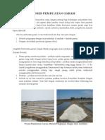 Proses Pembuatan Garam