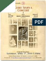 Program Invite | Guru Sishya Concert | dhanyasy.org