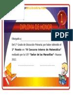 Diploma Primaria - Metematica