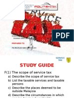 Apa 8023 Taxation. Service Tax