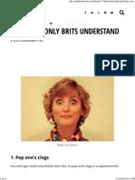 11 Idioms Only Brits Understand - Matador Network